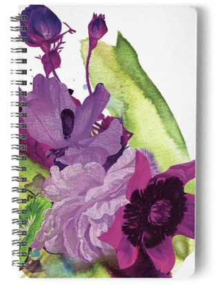 Floral Symphony Self-Launch Notebook