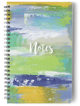Abstract Blues Self-Launch Notebook