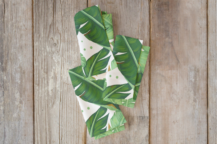 Banana Leaves Self Launch Napkin By Four Wet Feet Studio Minted