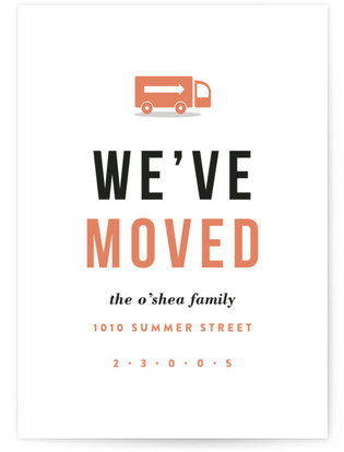 Modern Move Moving Announcement Postcards