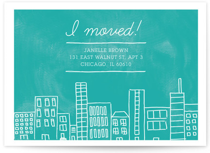 Apartment Living Moving Announcement Postcards