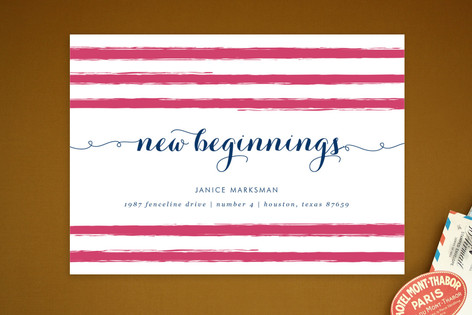 New Beginnings Moving Announcement Postcards
