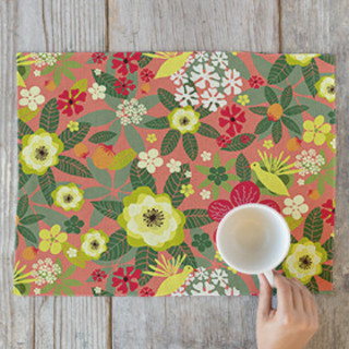 Tropical Bloom Self-Launch Placemats