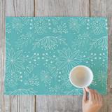 Aqua Flowers by Emily Henning