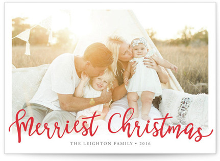 Merriest Christmas Custom Selflaunch Stationery