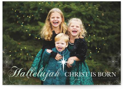 Hallelujah Christ Is Born Custom Selflaunch Stationery