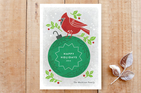 Christmas Cardinal Custom Stationery