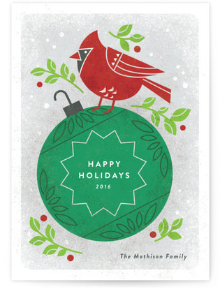 Christmas Cardinal Custom Selflaunch Stationery