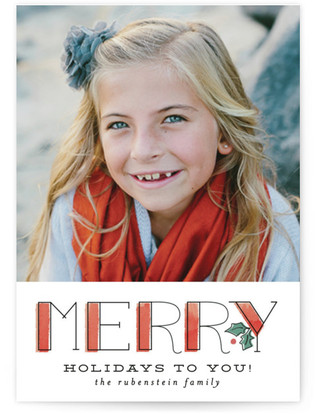 Merry Holidays to You Custom Selflaunch Stationery