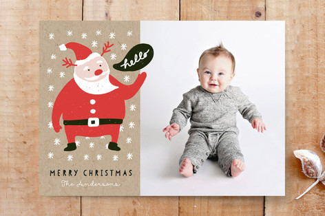 Santa's Greeting Custom Stationery