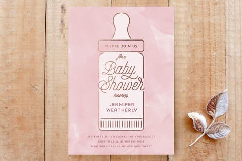 Baby Bottle Custom Stationery