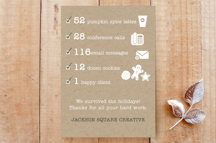"""""""Corporate Checklist"""" - Funny, Modern Custom Stationery in Kraft Paper by Janelle Wourms."""