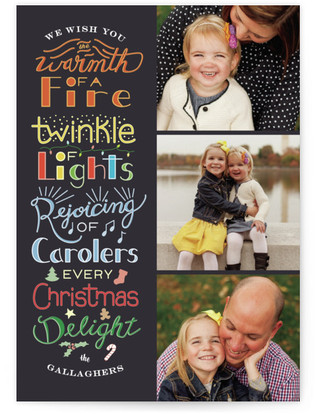 Christmas Delights Custom Selflaunch Stationery