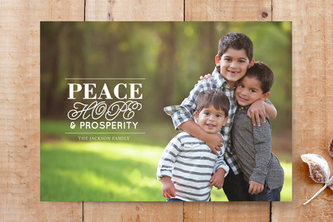 Peace, hope and prosperity Custom Stationery