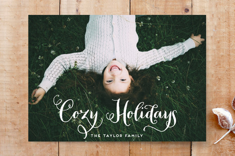 Cozy Holidays Custom Stationery