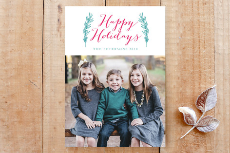 holiday and leaves Custom Stationery