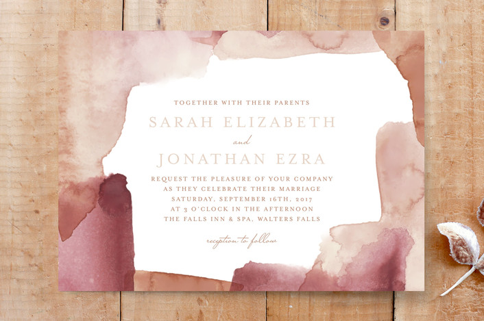 """""""Keefe"""" - Abstract, Bohemian Custom Stationery in Blush by Stacey Hill."""