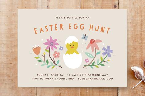 Hatched Easter Egg Hunt Custom Stationery