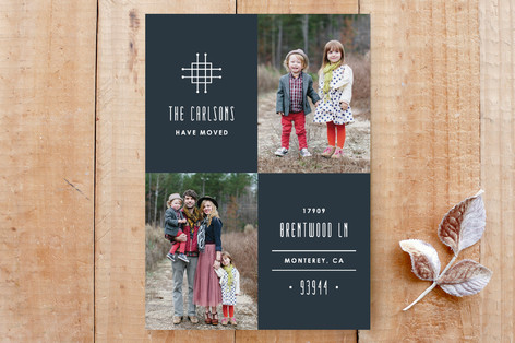 Grille Moving Announcement Custom Stationery