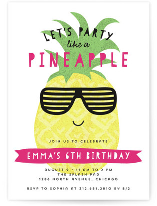 Let's Party Like A Pineapple Custom Selflaunch Stationery