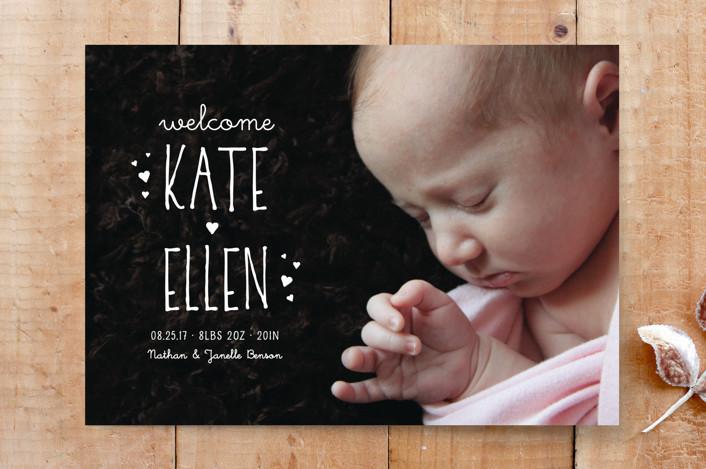 """Kate Ellen"" - Full-Bleed Photo, Simple Custom Stationery in Whisper by Janelle Wourms."