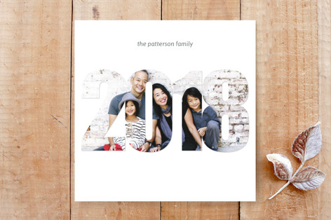 Simple 2018 Photo Card Custom Stationery