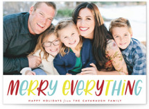 Lettered Merry Everythi... by Three Kisses Studio