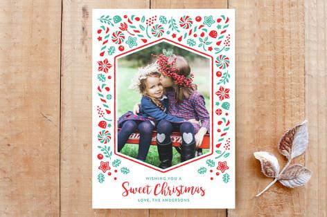 Sweet Candy Christmas Custom Stationery