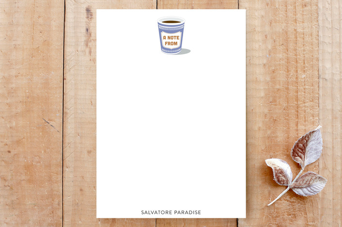 """""""NYC Coffee Cup"""" - Cities & States, Food Custom Stationery in Coffee by Salina Mack."""