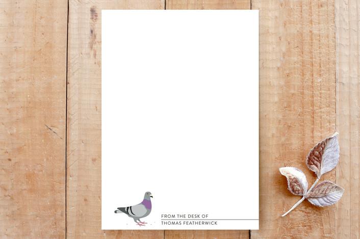 """Pigeon"" - Animal, Funny Custom Stationery in Pigeon by Salina Mack."