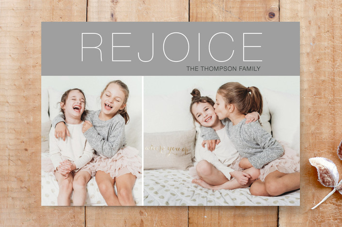 """""""Philippians Rejoice"""" - Minimalist, Modern Custom Stationery in Snow by Janelle Wourms."""