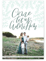 O Come Let Us Adore by Anchored Paper Co.