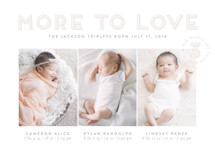 More To Love Triplets Custom Selflaunch Stationery