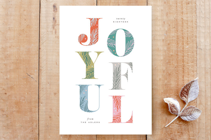 """""""Joyfully Decorated Type"""" - Flora & Fauna, Floral & Botanical Custom Stationery in Red Berry by Hooray Creative."""