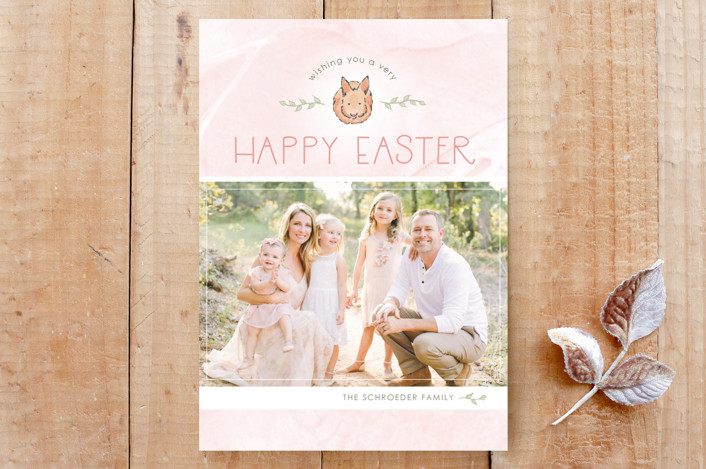 """""""Pastel Bunny"""" - Custom Stationery in Blush by Janelle Wourms."""