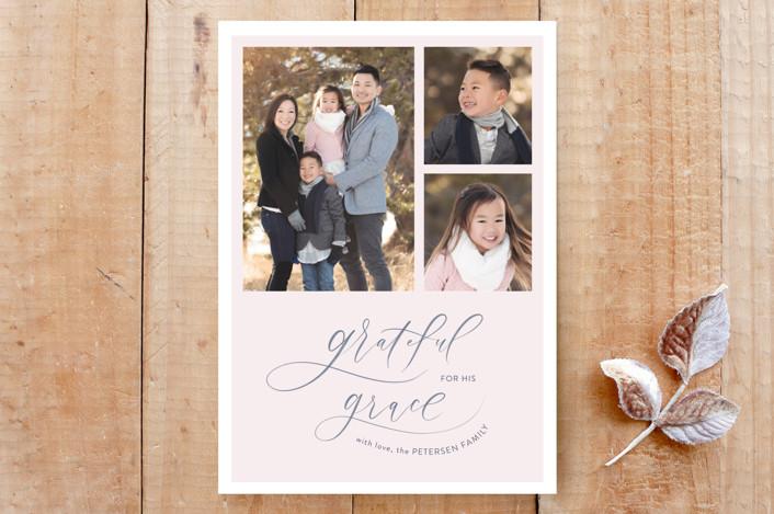"""""""Grateful Grace"""" - Custom Stationery in Blush by Carolyn Kach."""