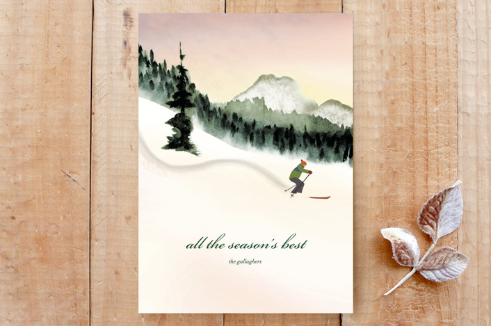 """""""First Tracks"""" - Custom Stationery in Spruce by Shannon."""