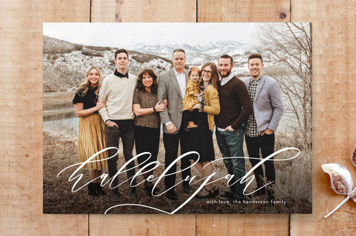 """Family Hallelujah"" - Custom Stationery in Snow by Carolyn Kach."
