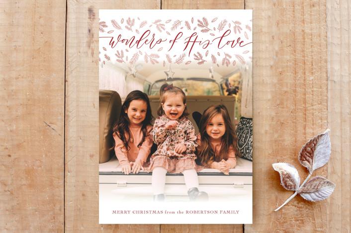 """Wonders of Love"" - Custom Stationery in Candy Cane by Carolyn Kach."