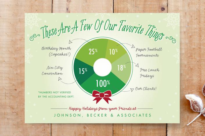 """Favorite Wreath"" - Custom Stationery in Evergreen by Beth Schneider."