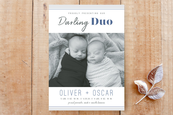"""""""Darling Duo"""" - Custom Stationery in Denim by Janelle Wourms."""