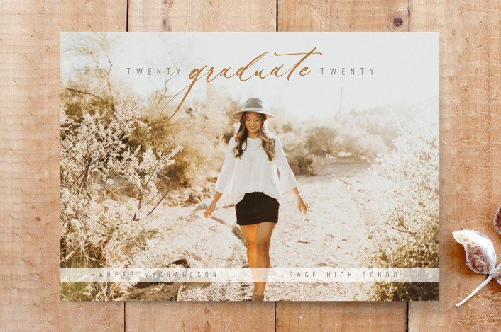 """Lifestyle Graduate"" - Custom Stationery in Rust by Brittany Braithwaite."
