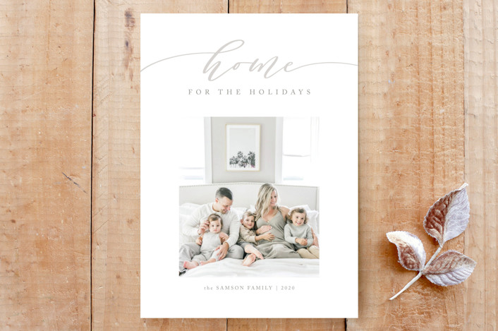"""""""Our Cozy Home"""" - Custom Stationery in Tinsel by Carolyn Kach."""