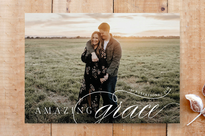 """A Most Amazing Grace"" - Custom Stationery in Snow by Carolyn Kach."