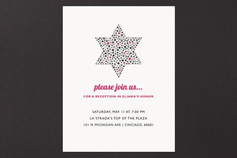 Mitzvah Star Mitzvah Reception Cards