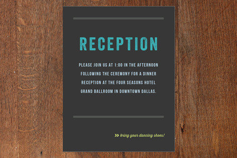 Namely Mitzvah Reception Cards