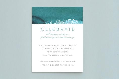 Minimal Abstract Mitzvah Reception Cards