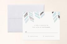 Foil-Pressed Mitzvah RSVP Cards