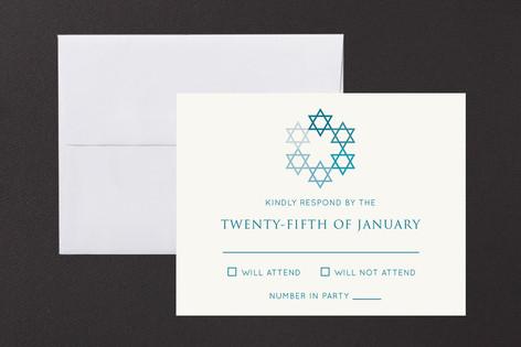 David's Stars Mitzvah RSVP Cards