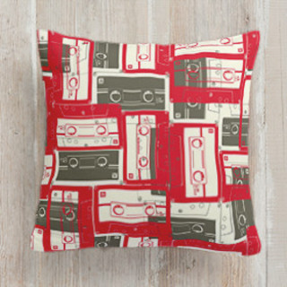 Mixed Tape Self-Launch Square Pillows